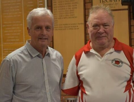 EALABA National Singles 4th Gary Swift with Andy Thomson